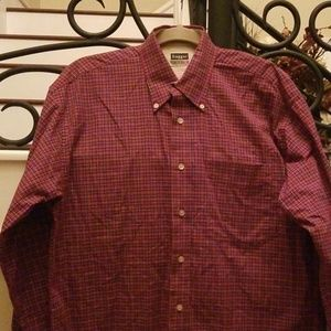 Haggar Forever New Button Down Long Sleeve Shirt